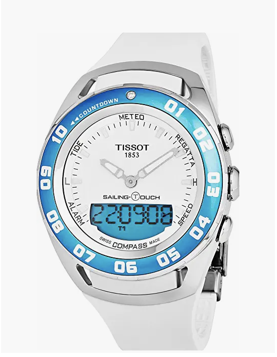 Tissot T-Touch Sailing Touch Multi-Function GMT Perpetual Calendar Analog Digital Alarm Watch