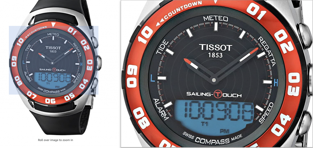 tissot t-touch sailing watch